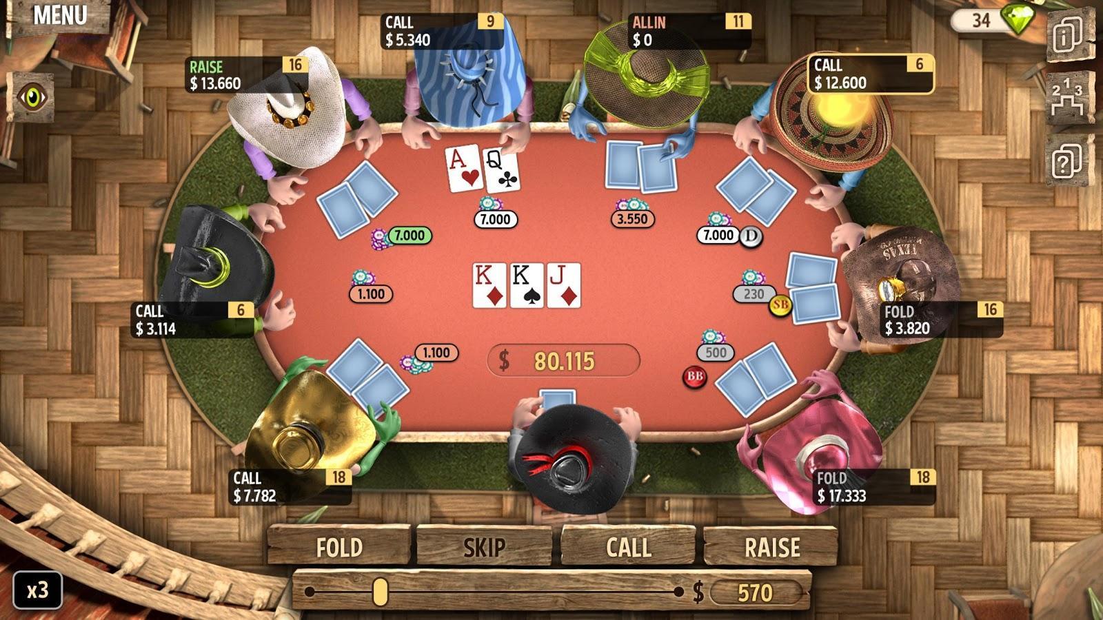 Скачать взломанный Governor of Poker 2 Premium мод много денег на андроид