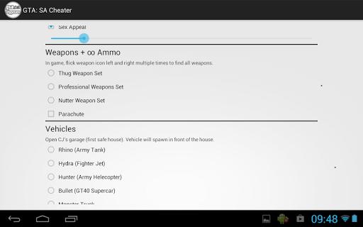 Скачать GTA: San Andreas Cheater на андроид