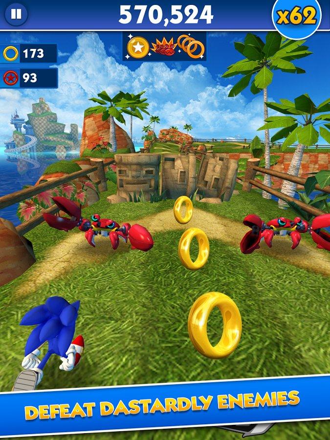 Скачать взломанный Sonic Dash мод много денег на андроид