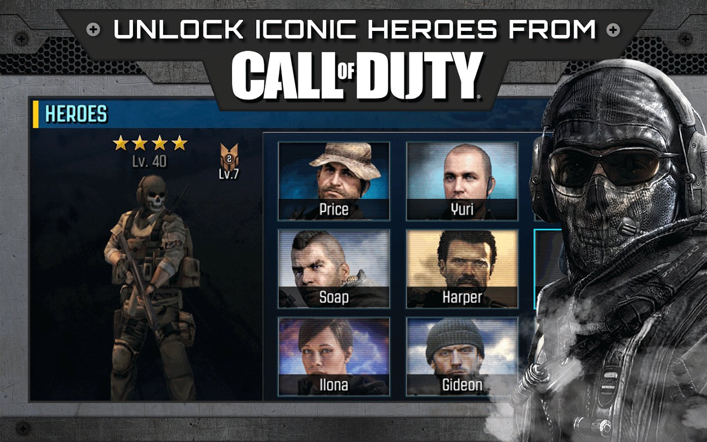 Скачать Call of Duty: Heroes на андроид